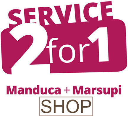 Service 2for1 Manduca und Marsupi