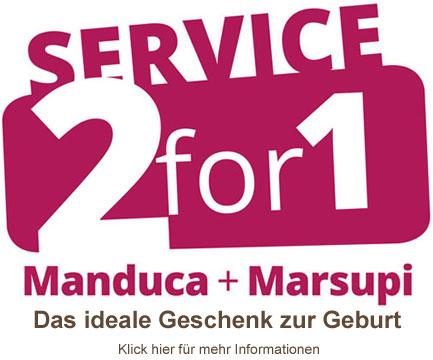 Service 2for1 Manduca und Marsupi