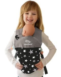 Manduca Doll Carrier Limited Starlets black