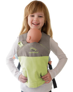 Manduca Doll Carrier Limited lime